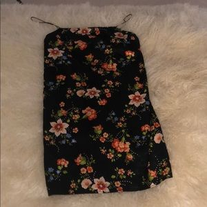 Top shop floral mini dress